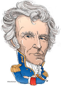 ​andrew jackson, caricature, Old Hickory, seventh U.S. president, founder Democratic Party