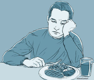 depression, signs of depression, feeling depressed, loss of appetite, malaise