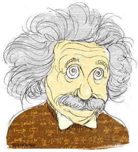 Albert Einstein, physicist, caricature, general theory of relativity