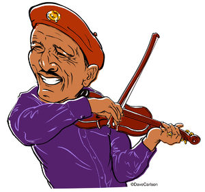 Mid-20th century blues singer, musician, folk artist, howard armstrong, Louie Bluie, caricature, writer, raconteur
