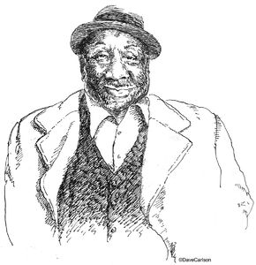 Caricature, McKinley Morganfield, Muddy Waters, Stovall Plantation, Clarksdale, Mississippi, Blues icon, Chess Records, Chicago, blues legend