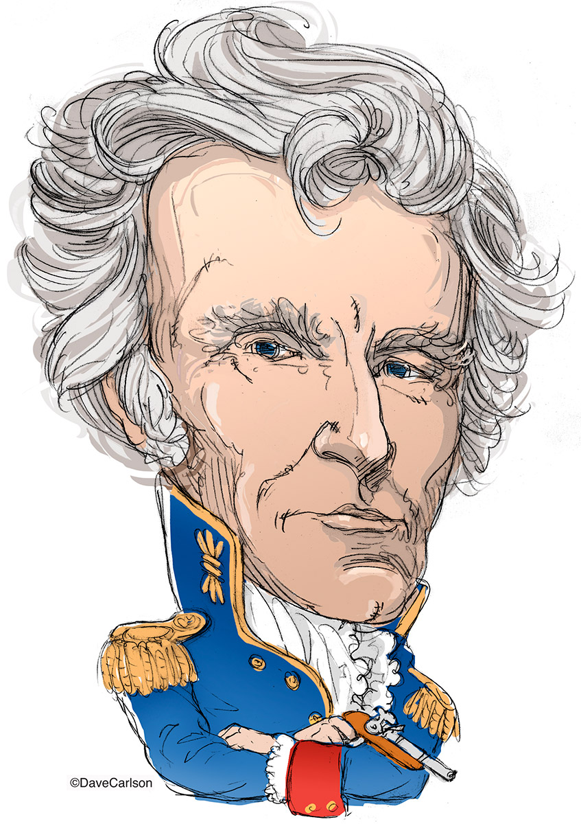 ​andrew jackson, caricature, Old Hickory, seventh U.S. president, founder Democratic Party, photo