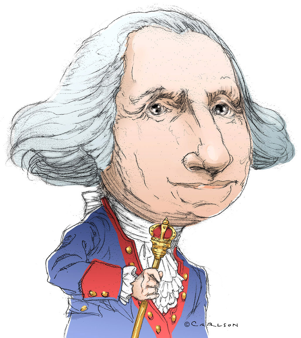Caricature, Revolutionary War general, first U.S. president, george washington, photo