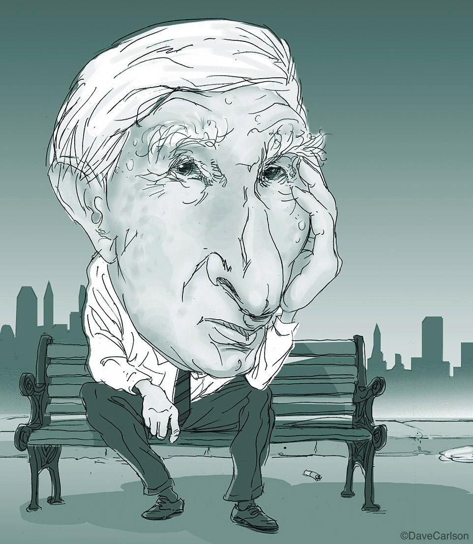 caricature, author, John Updike, photo
